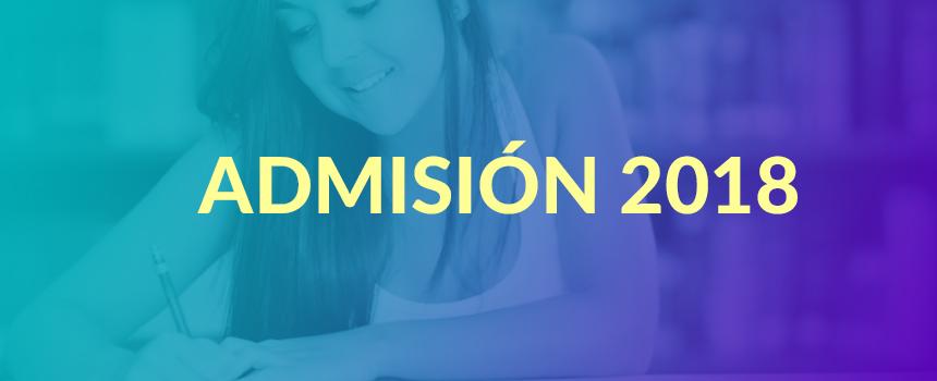 admisión 2018