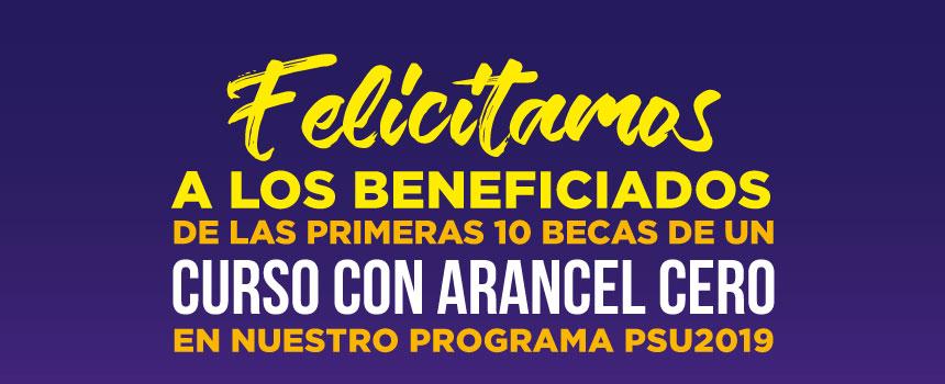 Ganadores de las becas PSU2019 Preuniversitario Preutech